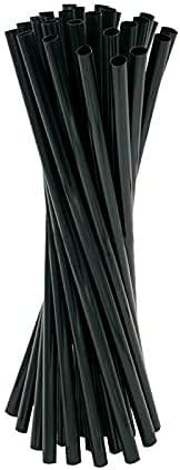 Virsus 1000 Cannucce di carta 20/7 Biodegradabili compostabili colore Nero, Cannuccia per Cocktails, Bibite Fredde e Calde Eco Friendly