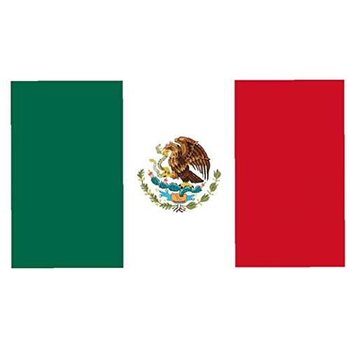 IUwnHceE 3x5 pies de la Bandera de México Colorido y UV Fundido Bandera de impresión Digital Resistente Superior de poliéster con Anillos de Metal para Uso en Interiores o al Aire Libre