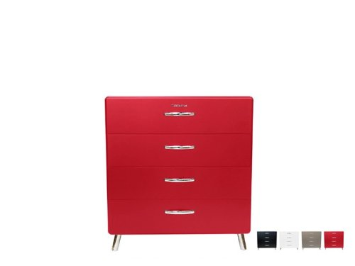 COBRA Kommode 4924 Schrank, Farbe:Rot