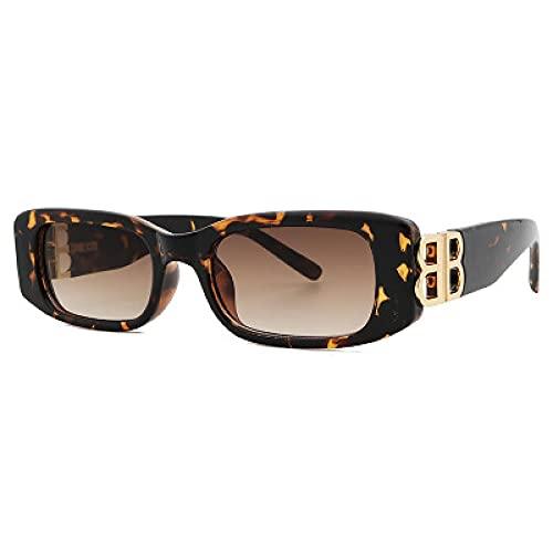 Gafas De Sol Nuevas Gafas De Sol para Mujer, Gafas De Sol Clásicas para Hombre, Gafas De Sol Uv400 para Viajes, Deportivas, Cuadradas, Rectangulares, Retro, Leopardo