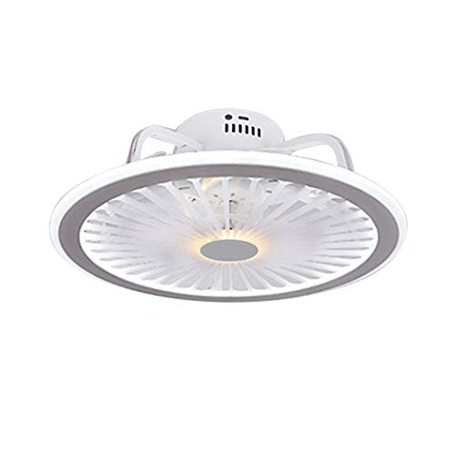 OUKANING Ventilador de techo con luz,Ventilador de techo LED de 32 W con control remoto regulable,Ventilador colgante ultra silencioso Para sala de Estar,Dormitorio (Rosado)