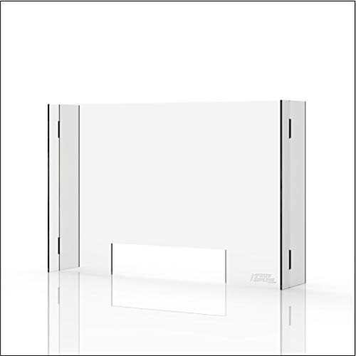Sneeze Guard & Shield For Counters - Clear 1/4' Protective Plexiglass - 35.4' x 23.6'