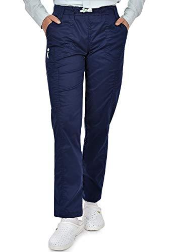 Palltex Medizinische Schlupfhose Arbeitshose Dante 5 Taschen Unisex mit elastischem Bund und Gesäßtaschen Krankenhaus Uniformhose mit mittlerer Taille und Rundumgummibund (Blau, 3XL)