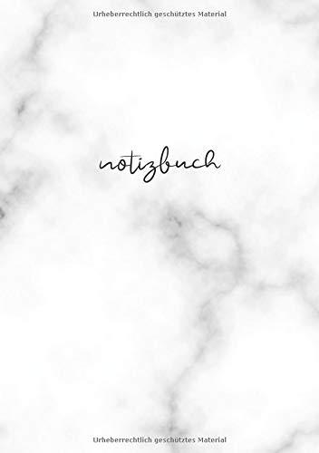 BLANKO NOTIZBUCH DIN A5: Journal zum Selbstgestalten oder als Zeichenbuch, Skizzenbuch, Blankobuch, Malbuch | 100 Seiten leer | Weißes Papier | Weiß Marmor Motiv