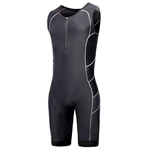 Mens Pro Trisuit Short Sleeve Triathlon Suit Best For Ironman Racing Tri...