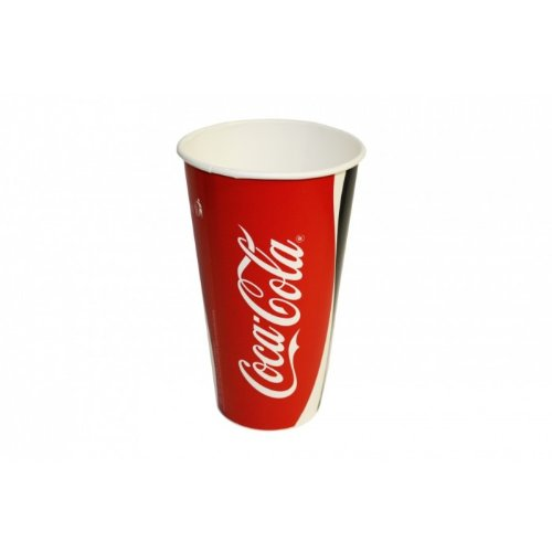 "Vasos de cartón - vasos de cartón - ""Coca Cola - con diseño de"" - ideal para soft drinks - 750 ml - 25 pcs"