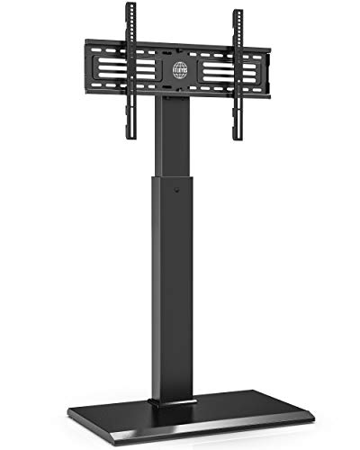 Fitueyes TV Bodenständer Serie-S mit Eisenbasis Unzerbrechlich TV Standfuss Höhenverstellbar Schwenkbar für 32-65-Zoll Fernseher bis zu 40kg Max.Vesa 400*600