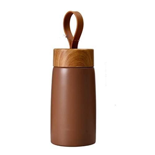 shian Taza de café con Aislamiento, Termo de Acero Inoxidable, Mini hervidor, Taza de Viaje portátil, Termo marrón