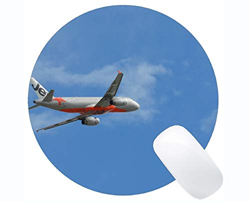 Gaming Round Mouse Pad Custom, Airbus A320 Flughafen Jetstar Transport Große Spielematte