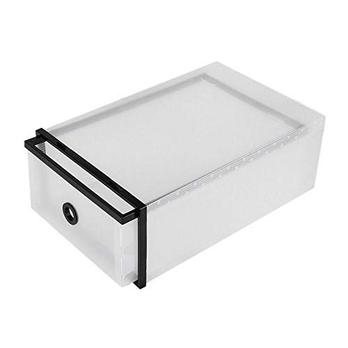 Futchoy - 20 cajas de almacenamiento apilables plegables para zapatos, organizador de almacenamiento en casa, de plástico transparente