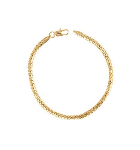 line.Bijoux - Pulsera de eslabones de estilo inglés bañada en oro 750/000 (18 quilates)