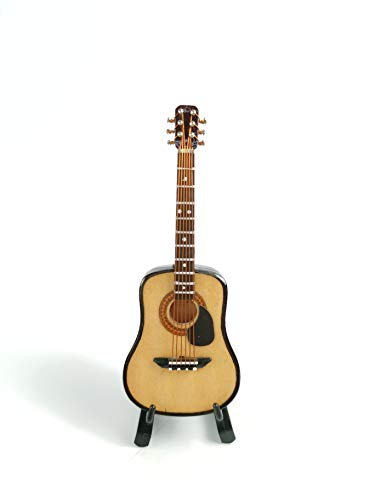 ALANO GN-10-S - Modelo de guitarra clásica de madera con soporte de miniguitarra