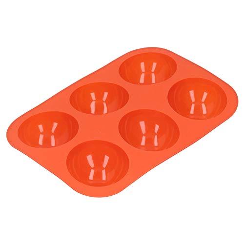 Pastel hemisférico, pastel Amplia gama de aplicaciones 6.3 X 9.3 pulgadas Silicona -40 ℃ a 250 ℃ para hornear pastel de mousse de chocolate para panadería