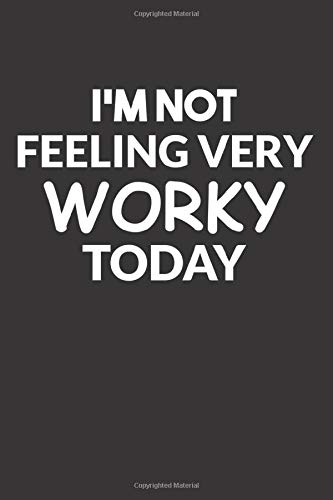 I'm not feeling very worky today funny vacation journal: 6''x 9'' Lined Pages / journal White Paper / journal/110 pages