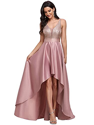 Ever-Pretty Women's 2020 Prom Dress V-Neck Long Wedding Guest Gowns Orchid US14