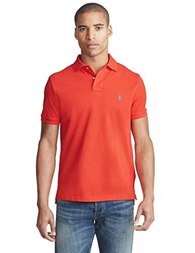 Ralph Lauren - Polo in piqué da uomo, vestibilità aderente custom slim fit Rosso (Africa...