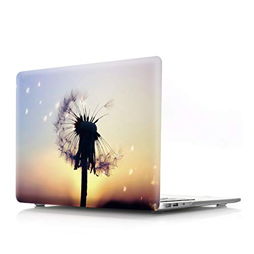PapyHall MacBook Pro 13 inch Case 2020 Release A2289 A2251 Full Protection MacBook Plastic Case for New 13-inch MacBook Pro Touch Bar and Touch ID Model: A2251 A2289 Black Dandelion