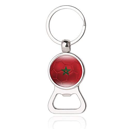 Marokko Flagge Bier Flaschenöffner Metall Glas Kristall Schlüsselbund Reise Souvenir Geschenk Schlüsselanhänger Zubehör