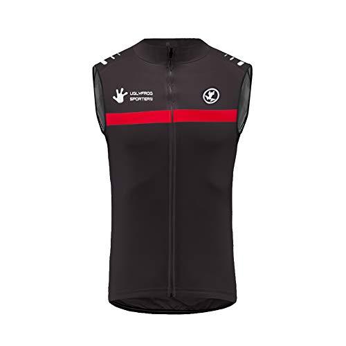 Uglyfrog Magliette Abbigliamento Ciclismo MTB Invernale Thermisches Vest Uomo Senza Maniche Bicicletta Jersey Ciclo Giacca HI2019VJVZR09