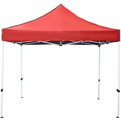 YRRA Cenadores Pabellon de Jardin Cenador Plegable Impermeable Protección UV 50, Carpas y Cenadores, para Fiestas, Bodas, Camping, al Aire Libre,Red,2x2m