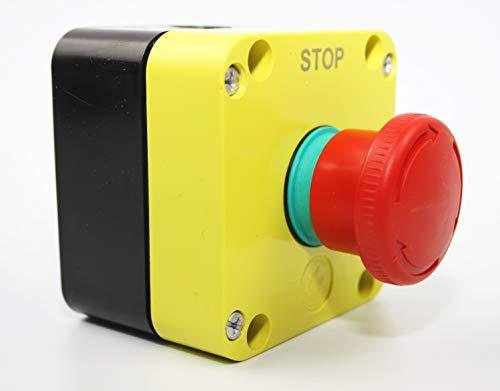 Giovenzana Pegasus Serie Emergency Stop - Interruptor de emergencia (IP65, 40 mm), color rojo