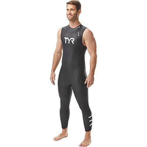 TYR Men's Hurricane Wetsuit Cat 1 Sleeveless, Black, XL