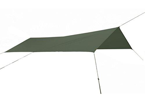 Fibega SilNylon Pioneer Tarp in Rechteckform, PU beschichtet, 460 x 290cm, Olive