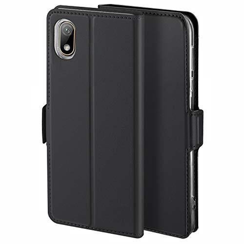 YATWIN Handyhülle für Huawei Y5 2019 Hülle Premium Leder Flip Case Schutzhülle für Huawei Y5 2019 / Honor 8S Handytasche, Schwarz