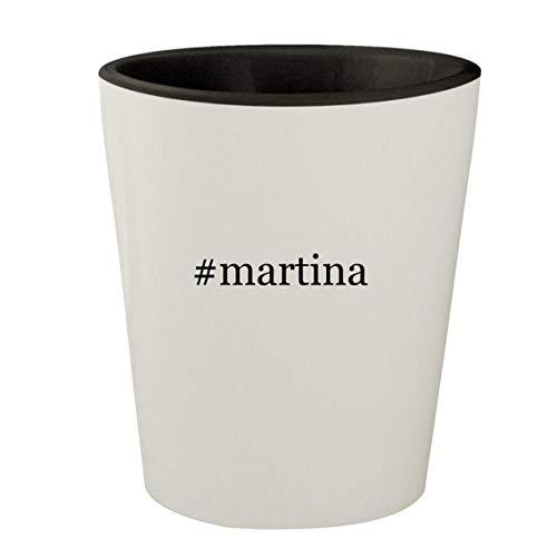 #martina - White Outer & Black Inner Hashtag Ceramic 1.5oz Shot Glass