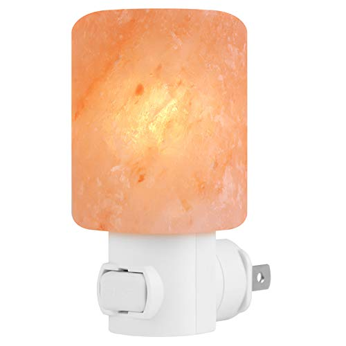 Syntus Himalayan Salt Lamp Natural Crystal Glow Hand Carved Night Wall UL Listed Plug for Lighting, Decoration and Air Purifying