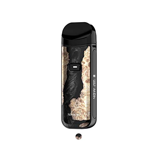 SMOK Nord 2 Pod Kit Cigarette Electronique Kit Complet 1500mAh 2ML- Sans nicotine San tabac (Bois Stabilisateur Noir)