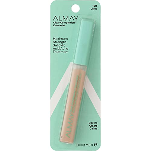 Almay Clear Complexion Concealer Corrector, Light [100], 0.18 oz (Pack of 2)