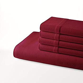 Nautica Jersey Knit Collection Sheet Set-Ultra Soft and Cozy Moisture-Wicking & Wrinkle Resistant Bedding Full Red
