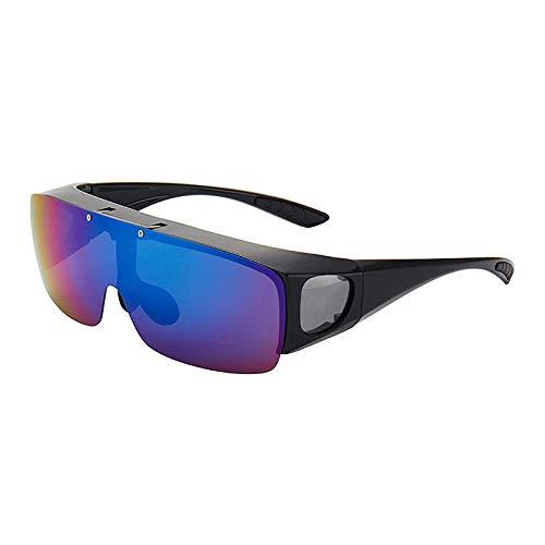 hqpaper Myopia Spiegel Outdoor-Sonnenbrille Herren Sonnenbrille mit Dual-Use-Nachtsichtbrille-Grün Quecksilber