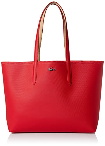 Lacoste Anna Reversible Tote Bag, RED/VIENNOIS