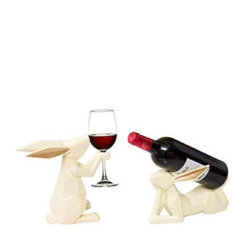 W-SHTAO L-WSWS Resina Decoraciones del hogar del Arte del Arte del Vino Conejo decoración Estante del Vino Rojo salón Mesa de Comedor casa 1 artesanías