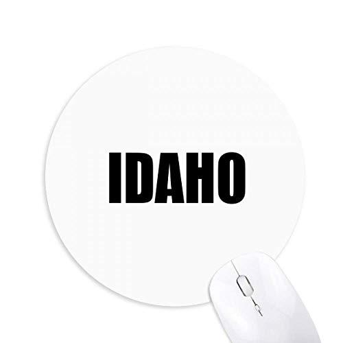 Idaho Tapis de souris rond en caoutchouc antidérapant Motif ville américaine
