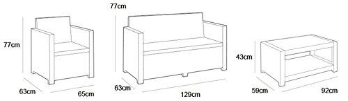 Allibert Rattan Gartenmöbel Set – mehrere Farben verfügbar – Preis-Leistungssieger - 9
