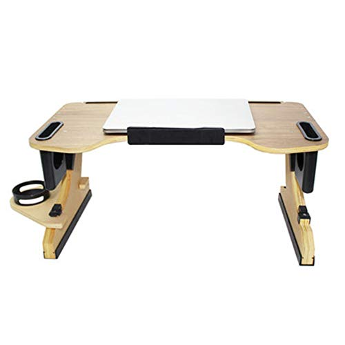 N / C Adjustable angle laptop stand, multifunctional lazy table portable computer stand, wooden foldable home, bed and breakfast table tray