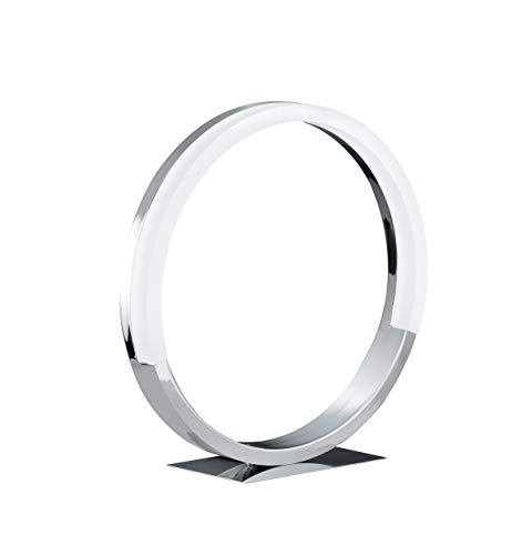 WOFI 8117.01.01.6300 A, Tischleuchte, Aluminium, 6.5 watts, Integriert, Chrom, 30 x 10 x 31 cm