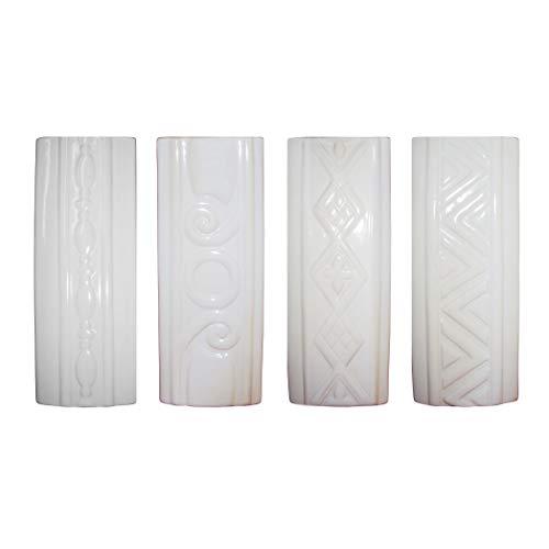 Luftbefeuchter 4-teiliges Set aus Keramik RELIEF zur Befestigung am Heizkörper Heizung Wasserverdunster Diffuser a1665