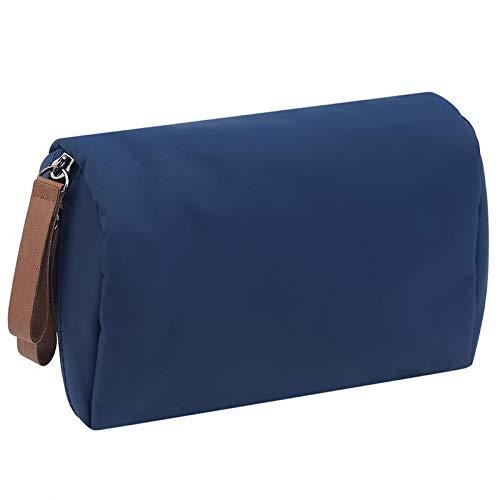 Solide Cosmétique Sac Femmes Maquillage Sac Style Pochette Trousse De Toilette Étanche Organisateur Case14 * 5 * 10 cm-Navy_Blue_14 * 5 * 10 cm