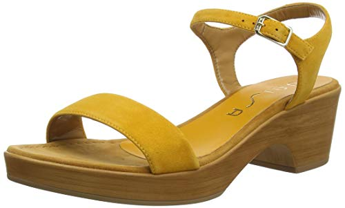 Unisa Irita_20_KS, Sandalias con Plataforma Mujer, Amarillo (Mustard Mustard), 40 EU