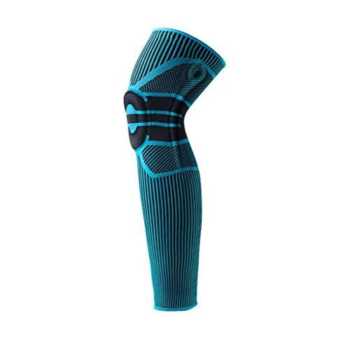 TTKD 1 par de rodilleras de silicona con soporte de resorte, para baloncesto, menisco, rótula, rodillera, compresión, manga para piernas, deportes, fútbol y ciclismo (talla XL:
