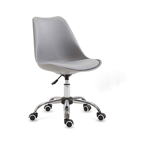 Yuansr Silla de la computadora silla de oficina en casa sencilla elevación silla de escritorio silla de la manera perezosa silla giratoria silla de ruedas de deslizamiento estudiante silla asiento tra