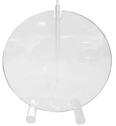 Oberstdorfer Glashütte Öllampe modern Petroleumlampe dekorative runde Glaslampe Tischlampe in Form Einer Linse aus klarem Glas mundgeblasen Durchmesser ca. 10 cm