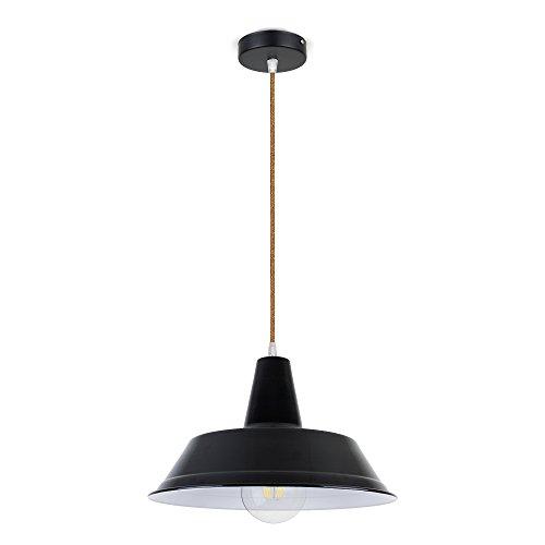 CD Cables-Supphängning lampskärm sombrero metall svart, kabel koppar 0,5 meter