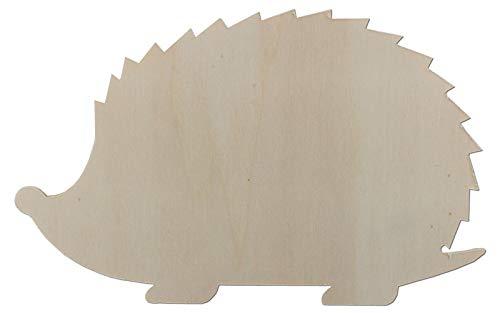 Türdeko Tiere aus Holz als Türdekoration Ideal für Kinderzimmer Türschild Wanddeko (Igel, Breite 21 cm)