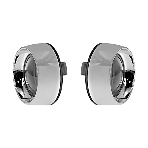 YHMTIVTU Deep Dish Bezel Bullet Turn Signal Light Cover Smoke Lens Chrome Bezels Compatible with Harley Sportster Touring Dyna Softail 2000-2019