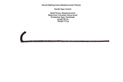 Devrek Walking Cane (Shepherd notch Theme) (All in one piece) (BSTNDVRK1098)